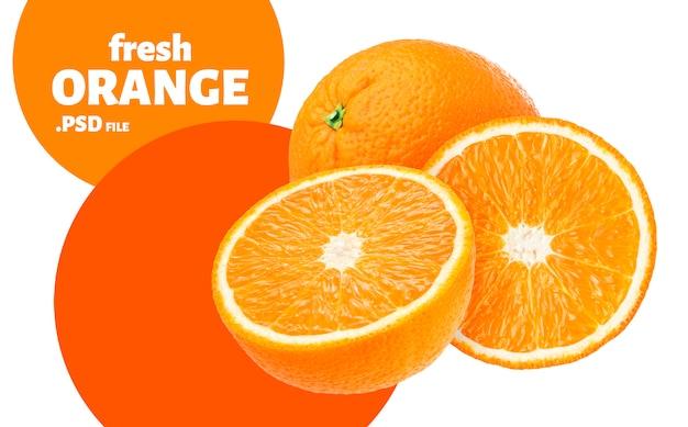 Оранжевый фруктовый баннер