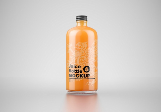 Мокап бутылки апельсинового сока