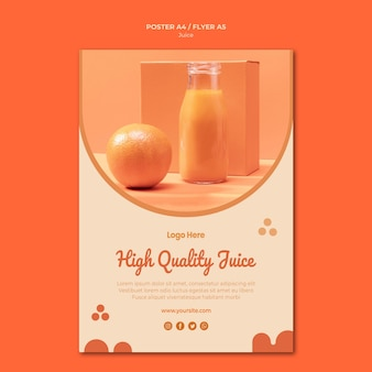 Orange juice flyer template