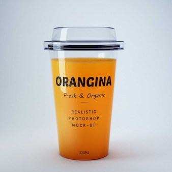 Orange juice mockup Free Psd