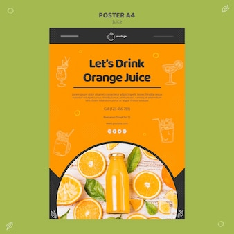 Orange juice poster template