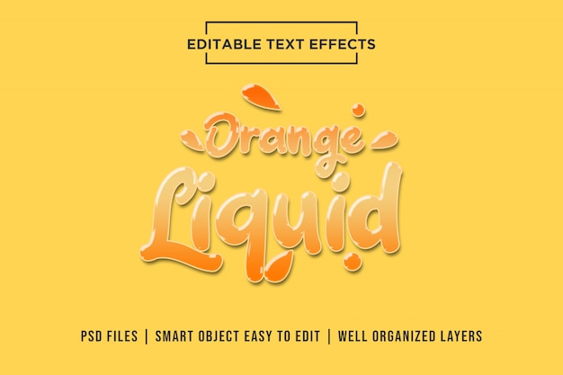Orange liquid text effect