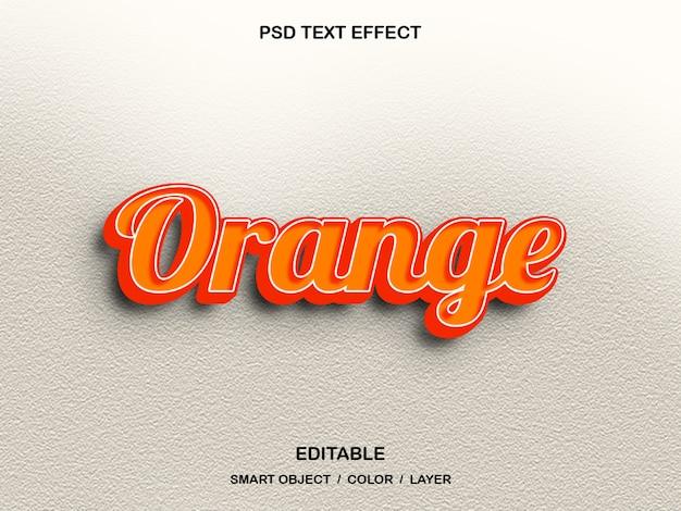 Оранжевый - psd текстовый эффект