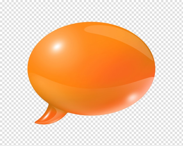 Orange speech bubble
