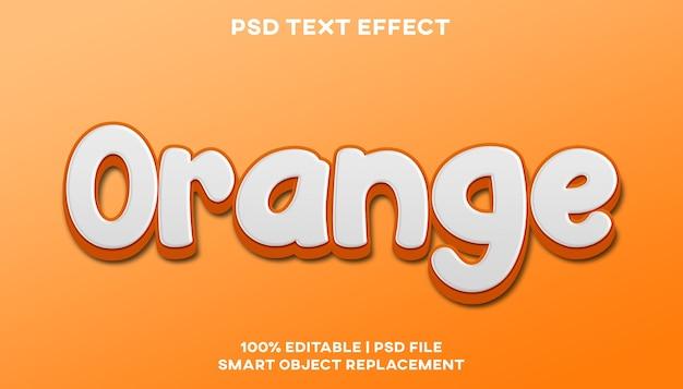 Шаблон стиля оранжевого текстового эффекта