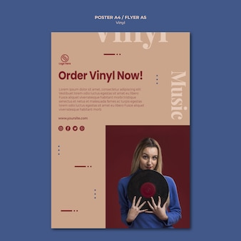 Order vinyl now poster template