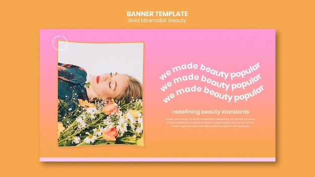 Organic beauty products banner template