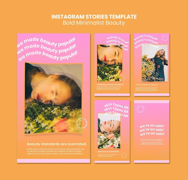 Organic beauty products instagram stories template