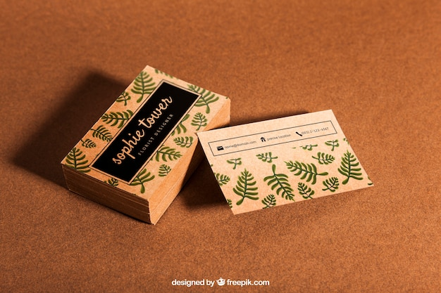 Макет органической визитной карточки