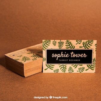 Organic business card mockup
