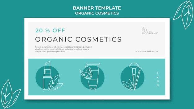 Modello di banner di cosmetici biologici
