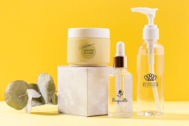 Organic creams and serums containers