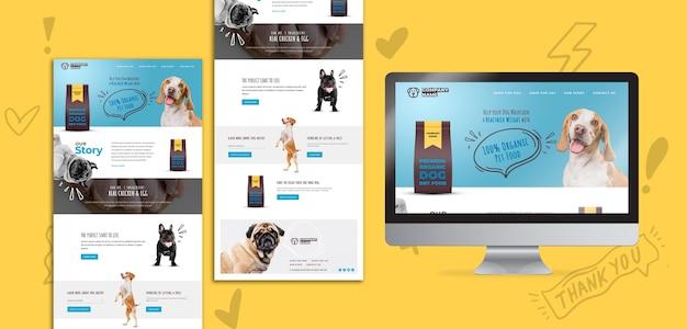 Pagina di destinazione di alimenti per cani biologici