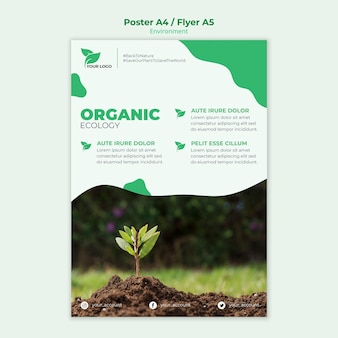 Organic ecology poster template
