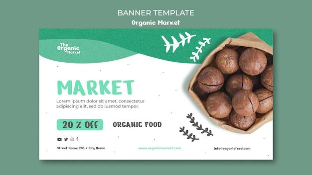 Organic food template banner