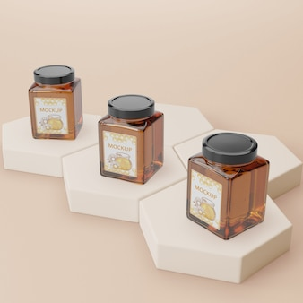Organic honey product mock-up