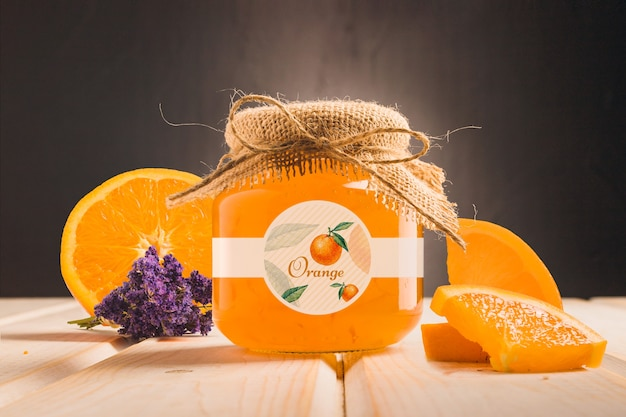 Organic honey with orange flavour