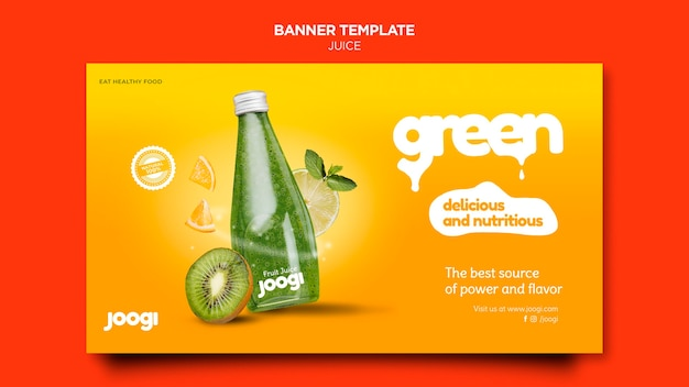 Organic juice banner template