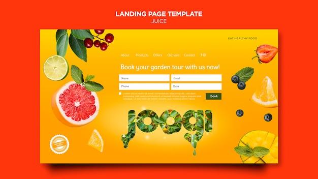 Organic juice landing page