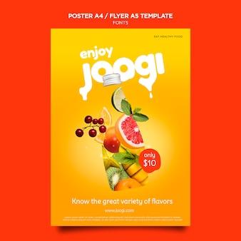 Organic juice poster template