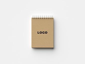 Organic notebook mockup