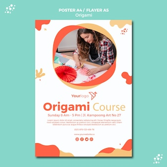 Origami poster template