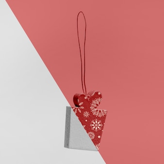 Mock-up regalo di natale ornamentale
