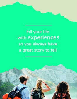 Outdoor adventure flyer template psd for travel agency
