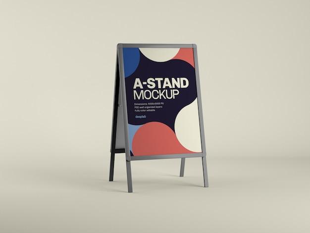 Наружная реклама a-stand макет с цветным psd
