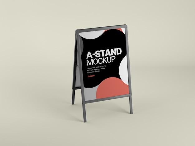 カラーpsdを使用した屋外広告用スタンドモックアップ