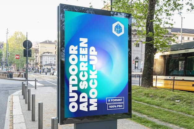 Outdoor advertising billboard mockup 15