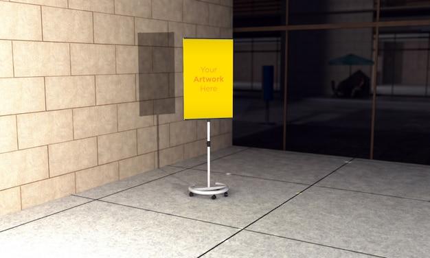 Макет стенда наружной рекламы 3d визуализации