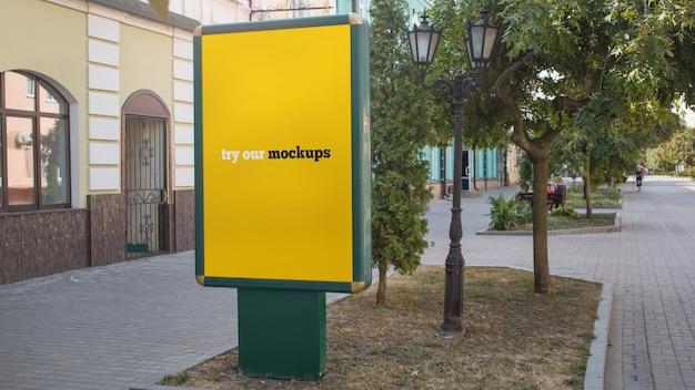 Outdoor advertising display mockup