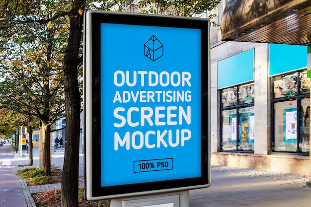 Outdoor advertising screen mock-up