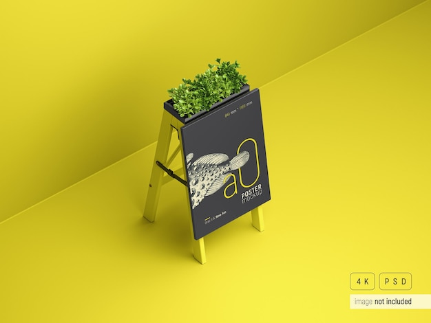 Outdoor advertising a stand mockup perspective view