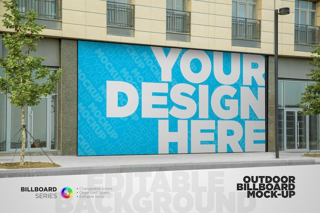 Outdoor advertising street billboard mockup