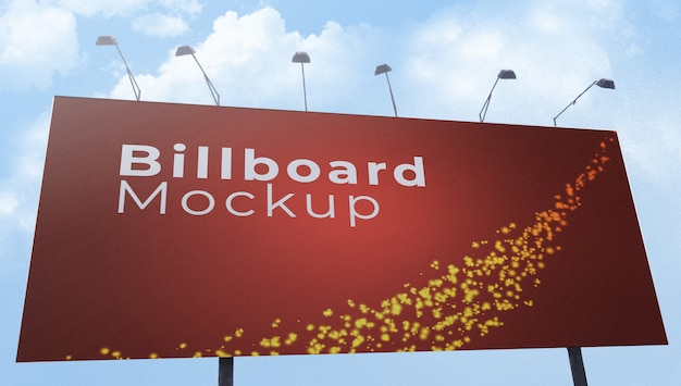 Outdoor billboard banner mockup