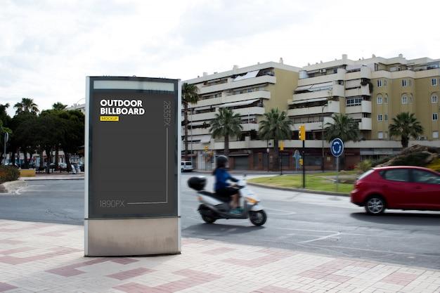 Outdoor billboard in city