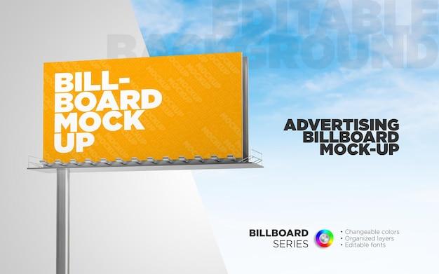 Наружный рекламный щит в 3d-рендеринге