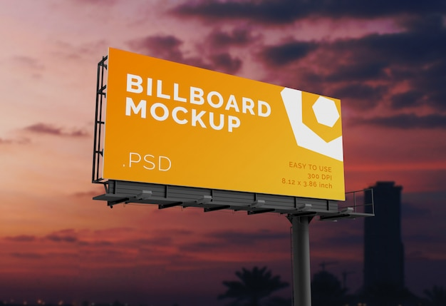 Outdoor billboard mock-up