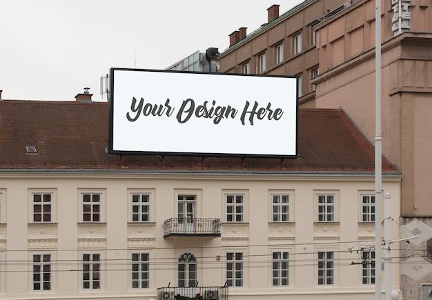 Outdoor billboard sign display mockup