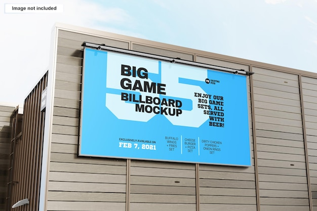 옥외 건물 광고판 목업