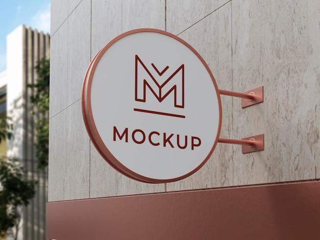 Mock-up di segno di attività all'aperto