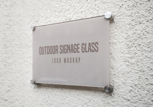 屋外看板ガラスモックアップ