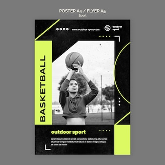 Outdoor sport poster template