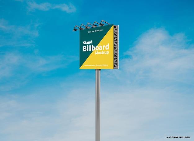 Шаблон макета наружного квадратного рекламного щита