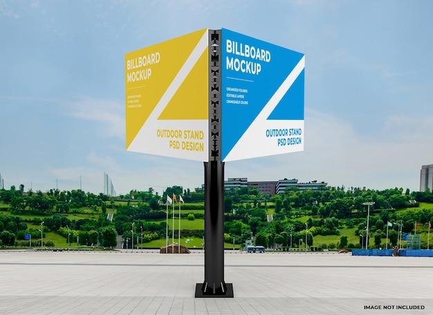 Шаблон макета наружного треугольного рекламного щита