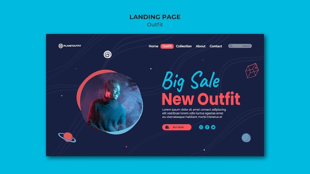 Outfit concept landing page template