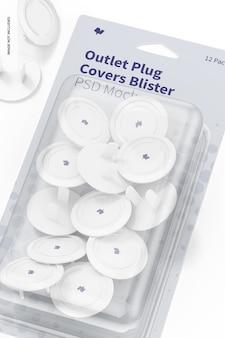 콘센트 플러그 커버 물집 모형, 클로즈업