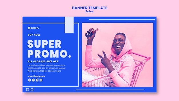 Outlet sale banner template